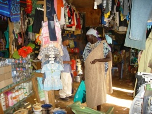 A well-stocked shop in the Ethiopian Market