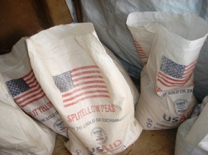 Sacks of food rations