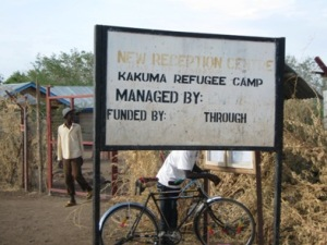 The Reception Centre greets new arrivals to Kakuma