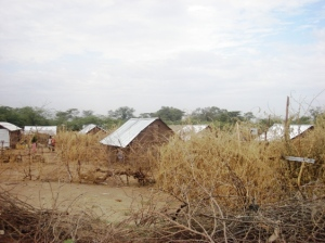 A village in Kakuma Refugee Camp