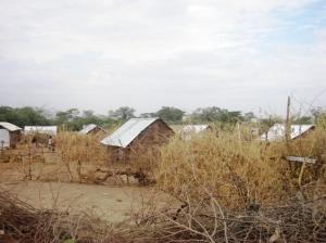 A village in Kakuma Refugee Camp