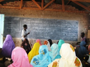 A recent English lesson for Darfurian women