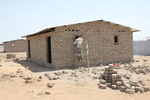 Permanent housing under construction