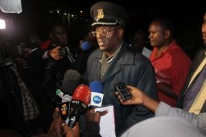 Police brief the press