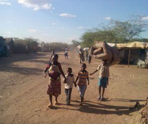 Children seek refuge after the violence