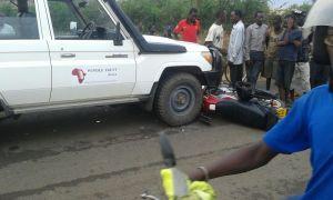 Accident in camp, Kakuma – Lokichoggio Rd.